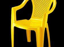 صندلی پلاستیکی دسته دار حصیری