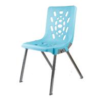 صندلی پلاستیکی اداری پایه فلزی