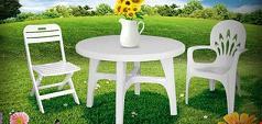 میز و صندلی پلاستیکی حیاطی