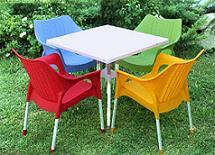 صندلی پلاستیکی پایه فلزی طرح حصیر